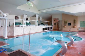 Indoor pool at Sir Sam's Inn.