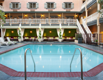 Outdoor pool at Ayres Hotels.