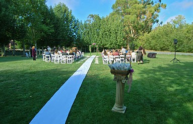 Wedding Ceremony at Sonoma Coast Villa