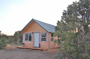 Cabin exterior view of Canyonlands Lodging.