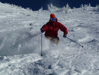 Skiing Mt Bachelor at Pronghorn Resort.