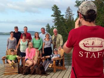 Family reunions at Gunflint Lodge.