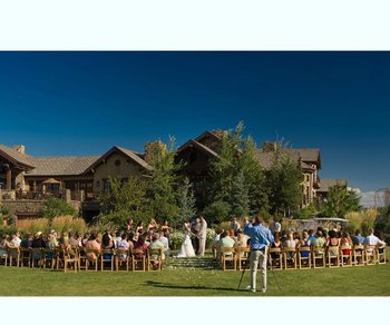 Wedding ceremony at Pronghorn Resort.
