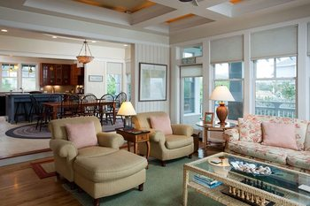 Living room at Bald Head Island.