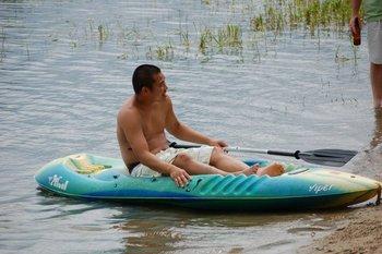 Kayaking at Elm Haven Resort.