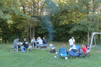 Family picnic at McQuoid's Inn & Event Center.
