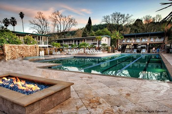 Outdoor pool at Calistoga Spa.