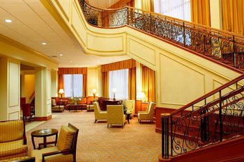 Lobby view at Crowne Plaza Hotel DALLAS-MARKET CENTER.