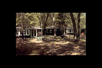 Cabins at Lazy Days Resort.