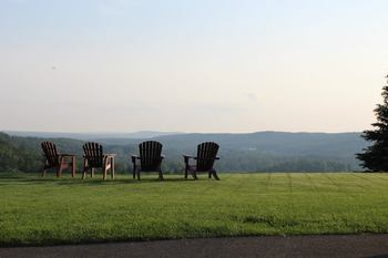 Relaxing at Otsego Club and Resort.