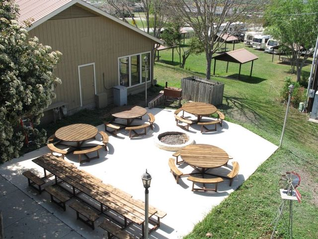 Cottage Backyard at Hill Country RV Resort