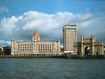 Exterior view of The Taj Mahal Hotel.