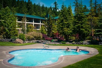 Outdoor springs at Bonneville Hot Springs Resort & Spa.
