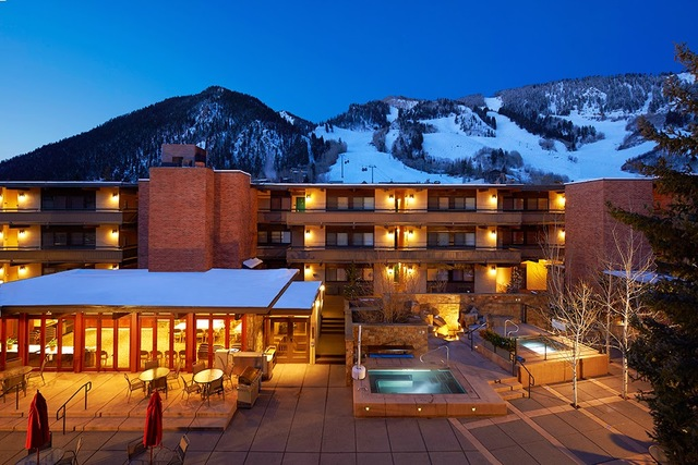 Winter time at Aspen Square Condominium Hotel.