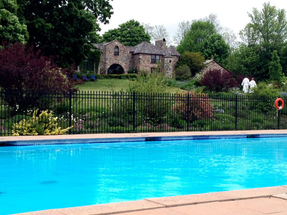 Outdoor pool at Ste. Anne's Spa.
