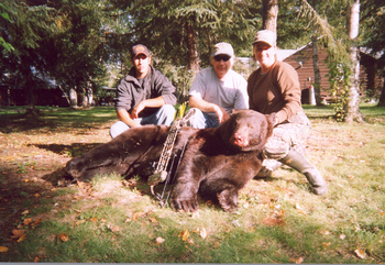 Bear hunting at Sandy Beach Lodge.