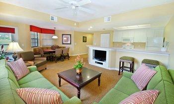 Guest living room at Holiday Inn Club Vacations at Orange Lake Resort.