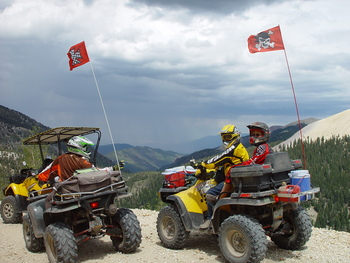 ATV riding at Big Rock Candy Mountain Resort.