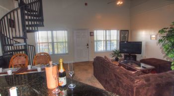Rental living room at SkyRun Vacation Rentals - Destin, Florida.