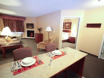 King suite at Perham Crossings.
