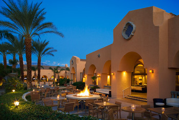 Outdoor patio at The Westin Mission Hills Resort & Spa.