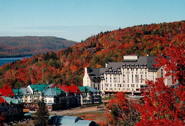 Exterior fall view at Fairmont Tremblant Resort.