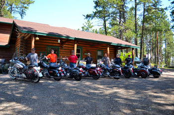 Group at Backroads Inn and Cabins.