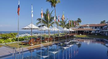 Outdoor pool at Coral Gardens Hotel.