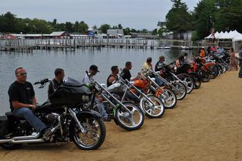 Motorcycle gathering at Naswa Resort.