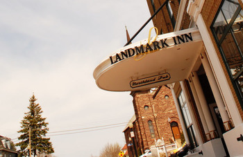 Exterior view of The Landmark Inn.