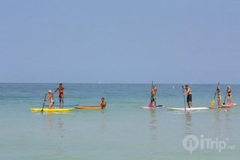 Paddle boarding at iTrip - St. Pete Beach.