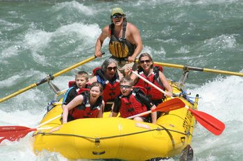 White water rafting at Great Northern Resort.