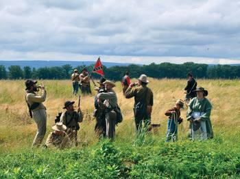 Gettysburg historical reenactments near Eisenhower Hotel & Conference Center.