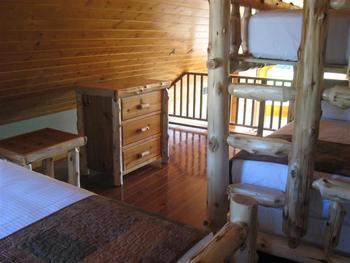 Rental loft at Red Cedar Lodge.