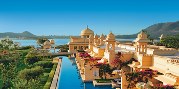 Outdoor pool at Udaivilas, An Oberoi Resort.