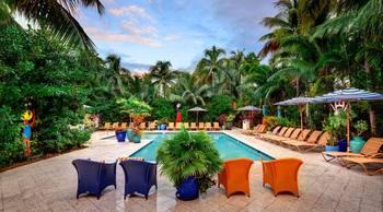 Pool view at Parrot Key Resort.