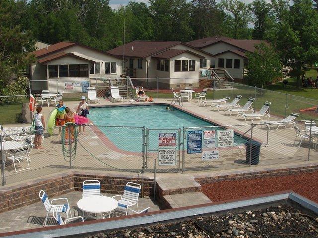 Outdoor pool at Wishbone Resort.