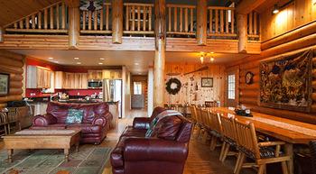 Cabin interior at Natapoc Lodging.