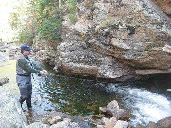 Fishing at Alpine Trail Ridge Inn.