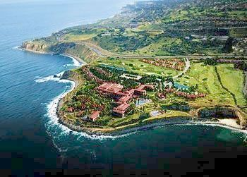 Aerial view of Terranea Resor.