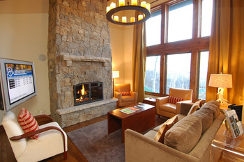 Rental living room at Frias Properties of Aspen - Shadow Mountain #1.