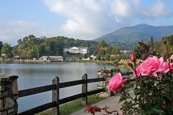 Lake view at Lake Junaluska Conference & Retreat Center.