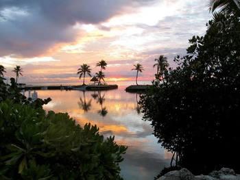 Sunset at Chesapeake Beach Resort.