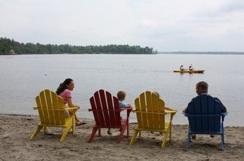 Beach view at Bayview Wildwood Resort.