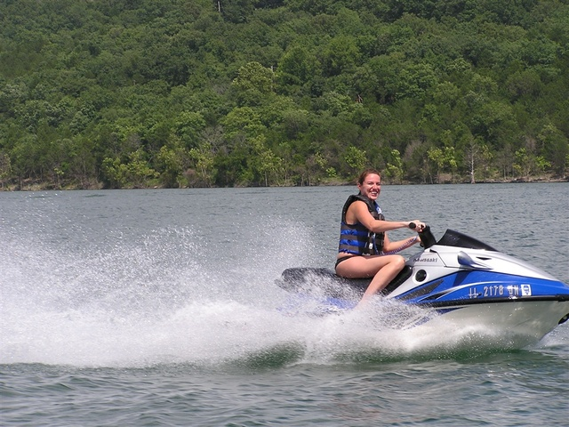 Jet skiing at Mill Creek Resort.