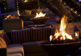 Relaxing Fire Pit at Renaissance Esmeralda Resort