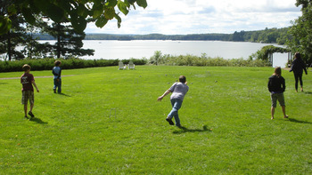 Bocce ball at Stout's Island Lodge.