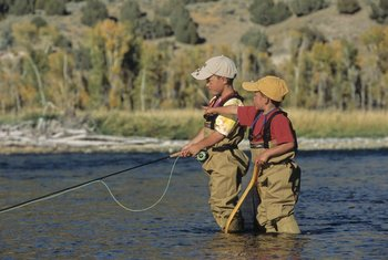 Fishing at South Fork Lodge.