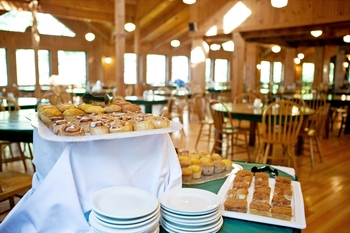 Dining at Rockywold-Deephaven Camps.