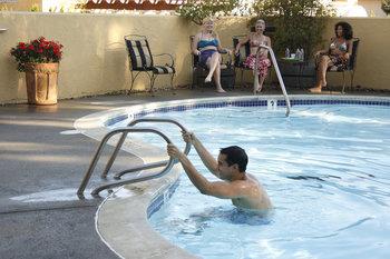Outdoor pool at Dry Creek Inn Hotel.
